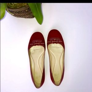 Cole Haan Bold Red Flats